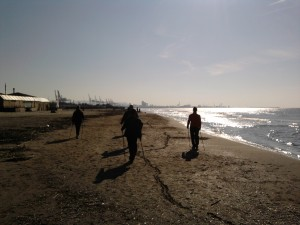 Nordic Walking in spiaggia a  Calambrone Pisa